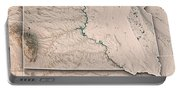 South Dakota State Usa 3d Render Topographic Map Neutral Border Portable Battery Charger