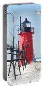 South Haven Pierhead Light Portable Battery Charger