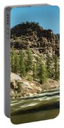 South Platte In Heavy Spring Flows And Wind Portable Battery Charger