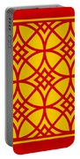 Southwestern Inspired With Border In Mustard Portable Battery Charger