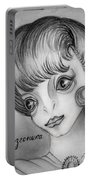 Space Alien Girl. Portrait Portable Battery Charger