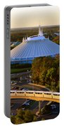 Space Mountain And Monorail Peach Portable Battery Charger