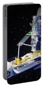 Space Shuttle With Hubble Telescope Portable Battery Charger