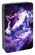 Space Sloth Riding On Unicorn Portable Battery Charger
