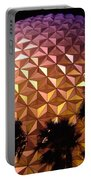 Spaceship Earth Shimmers Portable Battery Charger