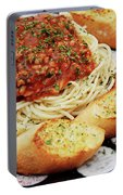 Spaghetti And Meat Sauce With Garlic Toast  Portable Battery Charger