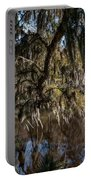 Spainsh Moss Hanging Over Pond On Middleton Place Portable Battery Charger