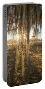 Spanish Moss Curtain Sunrise Portable Battery Charger