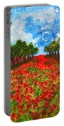 Spanish Poppies Portable Battery Charger