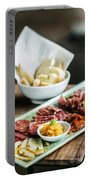 Spanish Smoked Meats Ham And Cheese Platter Starter Dish Portable Battery Charger
