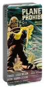 Spanish Version Of Forbidden Planet In Cinemascope Retro Classic Movie Poster Portable Battery Charger