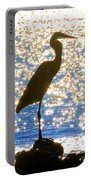 Sparkling Egret Portable Battery Charger
