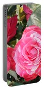 Sparkling Roses Portable Battery Charger by Carol Groenen