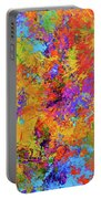 Sparks Of Consciousness Modern Abstract Painting Portable Battery Charger by Patricia Awapara