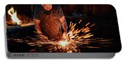 Sparks When Blacksmith Hit Hot Iron Portable Battery Charger