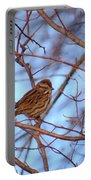 Sparrow On Blue Portable Battery Charger