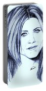 Speed Drawing Of Jennifer Aniston  Portable Battery Charger