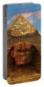 Sphinx And Pyramid Of Khafre Portable Battery Charger