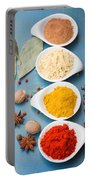 Spices On Blue   Portable Battery Charger