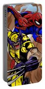 Spider And The Wolverine Portable Battery Charger
