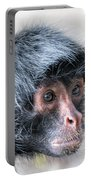 Spider Monkey Face Closeup Portable Battery Charger