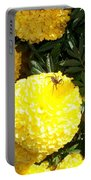 Spider On Marigolds  Portable Battery Charger