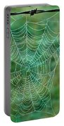 Spider Web In The Springtime Portable Battery Charger