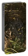 Spiders Web In Sunlight In Peters Canyon Portable Battery Charger