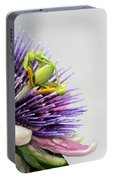Spikey Passion Flower Portable Battery Charger