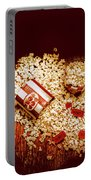 Spilt Tubs Of Popcorn And Movie Tickets Portable Battery Charger