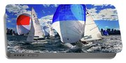 Spinnakers And Sails By Kaye Menner Portable Battery Charger