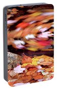 Spinning Leaves Of Autumn Portable Battery Charger