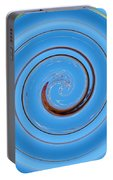 Have A Closer Look. Spiral Art With Light And Dark Blue Embossing Effect.  Portable Battery Charger