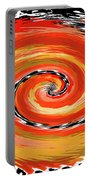 Spiral Of Fire Portable Battery Charger