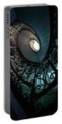 Spiral Ornamented Staircase In Blue And Green Tones Portable Battery Charger
