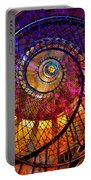 Spiral Spacial Abstract Square Portable Battery Charger