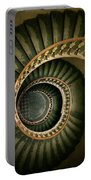 Spiral Staircase  In Green And Yellow Portable Battery Charger