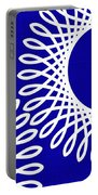 Spirals With Blue Portable Battery Charger