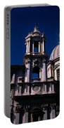 Spire And Cupola St Agnese In Agone Piazza Navona Rome Italy Portable Battery Charger
