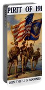 Spirit Of 1917 - Join The Us Marines  Portable Battery Charger by War Is Hell Store