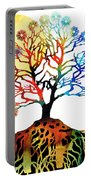 Spiritual Art - Tree Of Life Portable Battery Charger by Sharon Cummings