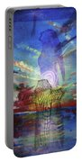 Spiritual Rising At Sunset Portable Battery Charger