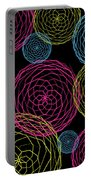 Spiro Blooms In Noir Portable Battery Charger