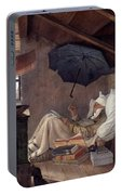 Spitzweg: Poor Poet, 1839 Portable Battery Charger