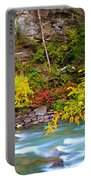 Splash Of Color Along The Creek Portable Battery Charger