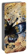 Splatter Butterfly Portable Battery Charger