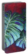 Split Leaf Philodendron Portable Battery Charger