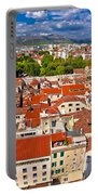 Split Old City Center Aerial View Portable Battery Charger
