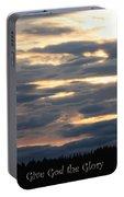 Spokane Sunset - Give God The Glory Portable Battery Charger