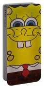 Sponge Square Yellow Brown Pants Cartoon Portable Battery Charger